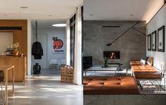 Stuens integrerede møbel og pejs