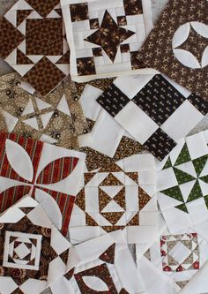 I like her mainly dark fabs with the white. Temecula Quilt Company: Dear Jane Journal