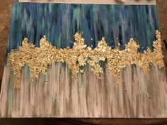 This is a beautiful acrylic painting on an 18x24 canvas with the edges painted should you choose not to frame it. The gold leaf accent really brings the painting to life. It gives it depth, texture, and is very eye catching. This can also be made into a custom order for any color combination and any size. Please feel free to message me, and we can discuss your thoughts and ideas. Thank you for looking. Enjoy