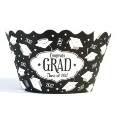 Cupcake Wrappers- Graduation 2012 includes 12-Cupcake, wrappers, Graduation, 2012 Grad, cupcake decoration, Graduation supplies