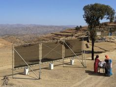 CloudFisher technology harvests drinking water from fog. Water From Air, Safe Drinking Water, World Water Day, Water Collection, Water Management, Solar Water, Sustainable Energy, Big Challenge, Water Conservation