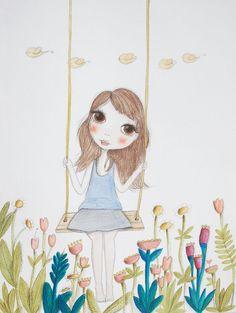 Details | Ilustração original em aquarela sobre papel para Série Little moments