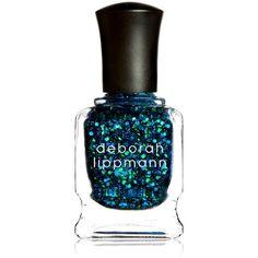 Deborah Lippmann Glitter Nail Colour ($21) ❤ liked on Polyvore featuring beauty products, nail care, nail polish, makeup, beauty, nail, filler, deborah lippmann, deborah lippmann nail color and deborah lippmann nail polish