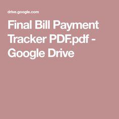 Final Bill Payment Tracker PDF.pdf - Google Drive
