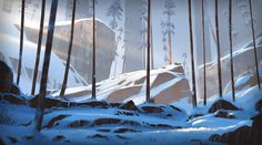 Forest snow on Behance