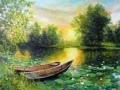 Купить или заказать Картина маслом Лодочки_ Владимир Чернов в интернет-магазине на Ярмарке Мастеров. Вы,как и Я знаете как здорово на природе,а у воды особенно.Успокаивает,завораживает... Фото передает свежесть цвета почти как в реалии. Авторская работа ,выполнена маслом на холсте. _________________________________________ купить картину маслом,картина, картины, картины маслом, масло, живопись маслом, выбор картин, где купить картину, картина, картина маслом, картина в…