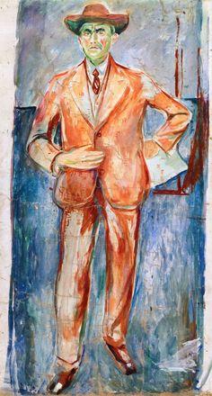 """Eberhard Grisebach"" by Edvard Munch Edvard Munch, Art For Art Sake, Vintage Artwork, Love Art, Oslo, Painting & Drawing, Illustrators, Oil On Canvas, Drawings"