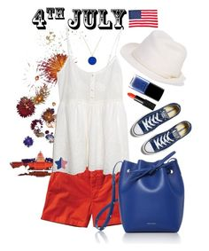 """""""Fireworks!"""" by paperdollsq ❤ liked on Polyvore featuring Patagonia, Spell & the Gypsy Collective, Melissa Odabash, Converse, Mansur Gavriel, Evergreen, Lauren Ralph Lauren, Forever 21 and NARS Cosmetics"""