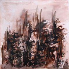 Calligraphy Painting / 100x100 cm // Acrylic on canvas/ / 2011 / Esmaeil Rashvand  /