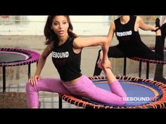 REBOUNDFIT RELAXATION AND STRETCHING ON MINI TRAMPOLINES - YouTube