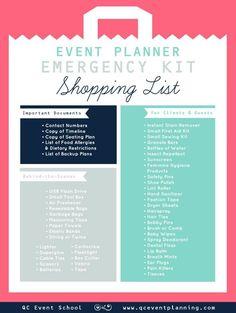 Event Planner Emergency Kit Infographic (scheduled via www.tailwindapp.com)