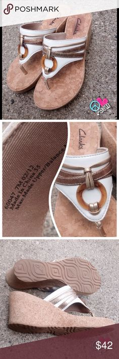 HOST PICK  Clarks Wedge Sandals The 'Amazing' & Comfy Clarks Summer Wedge Sandals Size 7   These are in A-1 Perfect Condition  ❌❌ NO TRADE ❌❌ Clarks Shoes Wedges