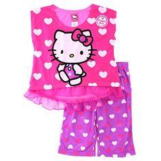 07e2689757 Hello Kitty Girls Pink Poly Pajamas (4) Sanrio http   www.
