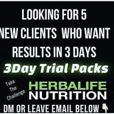 #THREE DAYS IS ALL I NEED TO CONVINCE YOU THAT #HERBALIFE  IS THE PRODUCT FOR YOU!!?? THREE SIMPLE DAYS TO LOSE A FEW LBS...TONE YOUR WAIST LINE OR EVEN DROP A PANTS SIZE OR TWO!! YES...ALL IN THREE DAYS!!! IF INTERESTED OR CURIOUS JUST CONTACT ME!! IN THESE THREE DAYS PEOPLE RANGE FROM LOSING 2-6lbs INCH LOSS ENERGY INCREASE AND MY FAVORITE #POSITIVITY FROM THE AMAZING FEELING YOU GAIN...ITS BEAUTIFUL!!! WHAT'S THERE TO LOSE BESIDES WEIGHT??? LET ME BE YOUR COACH!!  WE GET RESULTS OVER…