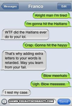 funny auto-correct texts - Learn From Your Fail