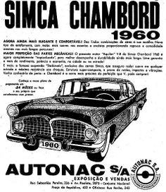 1960 - Simca Chambord.