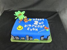 curious george birthday party - cake