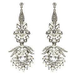 "455  2-3 wks made to order; 3.5"" drop Floral Chandelier Drop Earrings"