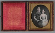 Untitled (Two Sisters) Two Sisters, Daguerreotype, Museum Collection, Public Domain, American Art, Art Museum, Culture, Gallery, Artist