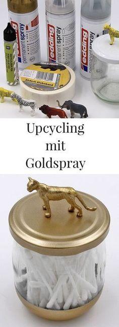 DIY Upcycling - alte Konserven Gläser einfach und unkompliziert upcyceln. Schöne Deko für Badezimmer und Co.