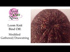 Loom Knit Hat - Finish the Hat Flat - No Bumps No Wrinkles Decreased Bind-off Cast-off Loom Knitting Stitches, Loom Knitting Projects, Lace Knitting, Knitting Help, Cross Stitches, Knitting Ideas, Loom Hats, Loom Knit Hat, Knitted Hats
