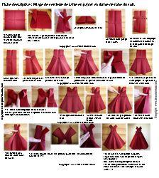 Pliage de serviette on pinterest napkins origami and lotus - Plier des serviettes de table facile ...