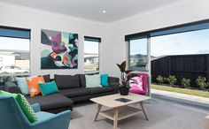 This living room has been spruced up with a beautiful colour palette.