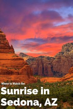 Watching the sunrise is a magical experience. These are the best places to watch - Watch - Ideas of Watch - Watching the sunrise is a magical experience. These are the best places to watch the sunrise in Sedona AZ. Check them out on your next visit! Arizona Road Trip, Sedona Arizona, Visit Arizona, Arizona Travel, Arizona Sunrise, Oak Creek Canyon Arizona, Canyon Road, New Orleans, New York