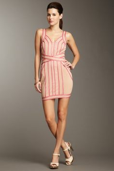 Wow Couture  Metallic Trim Dress