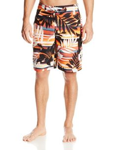 391e5fd7be Amazon.com : Speedo Men's Weekend Floral e-Board Watershorts, Fiery Red,  Small : Sports & Outdoors