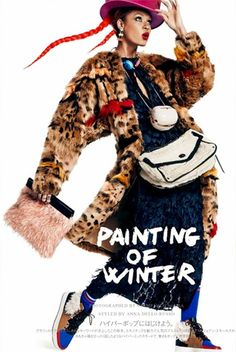 Painting Of Winter: #JoanSmalls by #GiampaoloSgura for #VogueJapan December 2014
