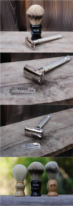 While we would never endorse shaving one's grizzly beard, there are those times in a man's life that do call for a smooth close shave. If you must, then you might as well shave like a full-grown man and go straight for the classic double edge razor. Personalized Double Edge Safety Razor Set with Shaving Brush, Blades, & Soap by mini-Fab | made on Hatch.co