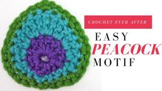 Free Pattern Link: http://crocheteverafter.com/tutorials/motif-of-the-month/november-2013-peacock-motif/ The newest motif looks like a peacock feather and ca...