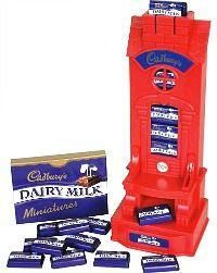 Cadbury's chocolate miniatures machine