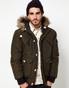 Penfield Canyon Short Parka with Faux Fur Hood