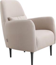 Daborn lenestol. Fåes i flere farger og med eikeben. Dimensjoner: L68 x H100 x D74 cm. Kr. 4990,- Fabric Armchairs, Tub Chair, Habitats, Accent Chairs, Furniture, Home Decor, Beige, Products, Tela
