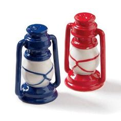 Vintage Lantern Salt and Pepper Shakers.
