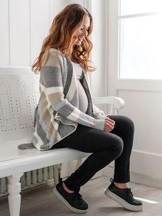 Stripe Maternity & Nursing Cardigan | JoJo Maman Bebe