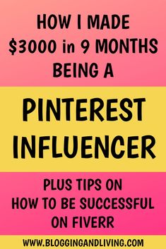 I made $3000 in 9 Months as a Pinterest Influencer | Make Money Online . If you're looking for creative ways to make money online, I would recommend using this Pinterest tip and becoming a Pinterest Influencer. Learn how to make money now with this easy way to make money online. #makemoneyonline #Pinterest #influencer