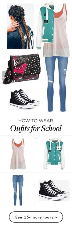 """""""McKaye's High school outfit."""" by bubble-loves-you on Polyvore featuring Frame Denim, Wet Seal, Converse and Roxy"""