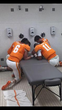 A prayer before the big bowl game! 2015