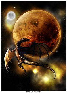 Planet Draco by lockjavv on deviantART (Artist rec'd permission from dragon artist Ciruelo Cabral to use his dragon in her photomanip)