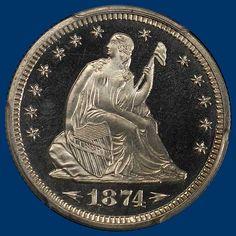 David Hall Rare Coins has this item on Collectors Corner - 1874 25C Arrows PR66CAM PCGS