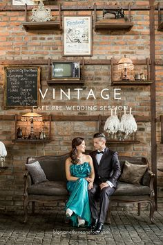 A vintage theme pre-wedding photo shoot at The Bistrot, Bali http://blog.onethreeonefour.com/vintage-cafe-pre-wedding-photo-shoot-at-the-bistrot/