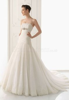 Mermaid Organza pleated Waist zipper back Wedding Dress