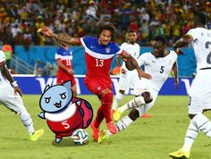 Catbug's going in for the GOOOOAAAALLLLL!   Watch Catbug play all the sports in If I Had Some Hoverpants  Image by our intern Rachel!