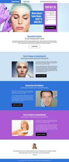 plastic surgery lead generating responsive landing page design