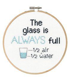 Say It! in cross stitch-Full Glass