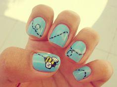 honey bee nails :)