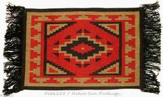 """Colorful woven placemats with fringed ends. 13x19"""" Fabric backed for durability $7.95 w/ free shipping #placemats #southwestern #homedecor"""